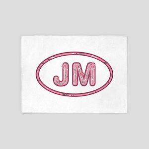 JM Pink 5'x7'Area Rug