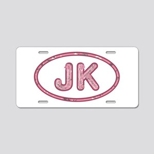 JK Pink Aluminum License Plate