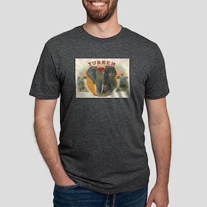 Tusker Elephant Mens Tri-blend T-Shirt
