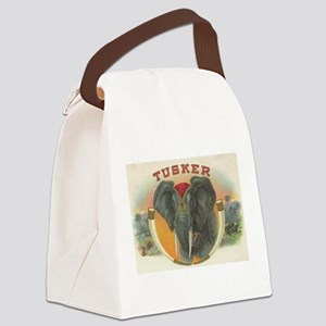 Tusker Elephant Canvas Lunch Bag
