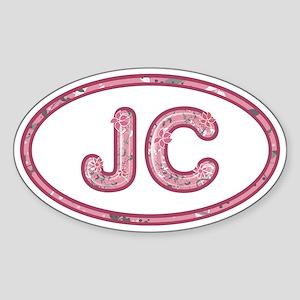 JC Pink Sticker (Oval)