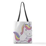 Vibrant Vinyls Unicorn Polyester Tote Bag