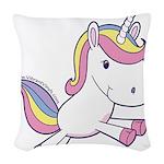 Vibrant Vinyls Unicorn Woven Throw Pillow