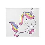 Vibrant Vinyls Unicorn Throw Blanket