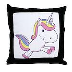 Vibrant Vinyls Unicorn Throw Pillow
