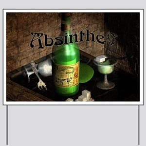 Absinthe Still Life On Tray Yard Sign