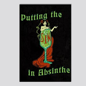Putting The Sin In Postcards (package Of 8)