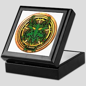 Holly Celtic Greenman Pentacle Keepsake Box
