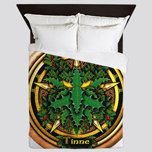 Holly Celtic Greenman Pentacle Queen Duvet