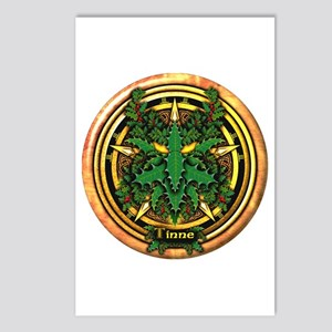Holly Celtic Greenman Pentacle Postcards (Package