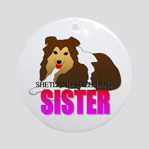 Shetland Sheepdog Sister Ornament (Round)