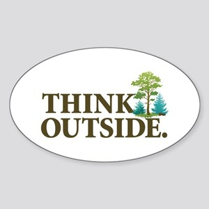 Think Outside Sticker (Oval)