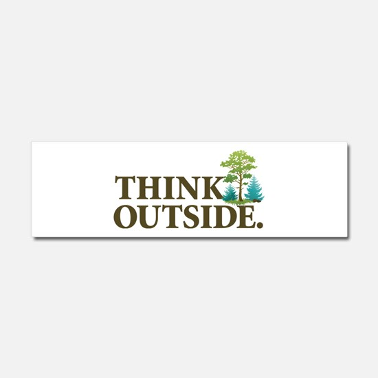 Think Outside Car Magnet 10 x 3