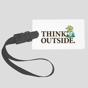 Think Outside Large Luggage Tag