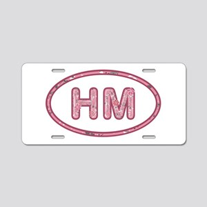 HM Pink Aluminum License Plate