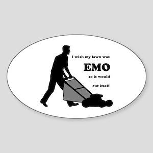 EMO Lawn Oval Sticker