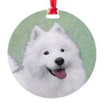 Samoyed Round Ornament