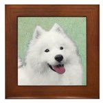 Samoyed Framed Tile