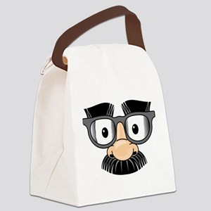 Funny Mustache Disguise Canvas Lunch Bag