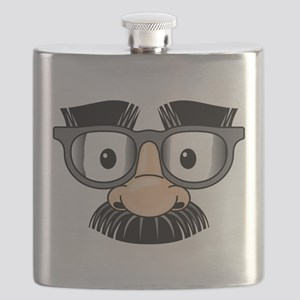 Funny Mustache Disguise Flask