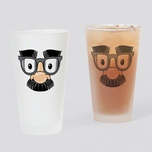 Funny Mustache Disguise Drinking Glass