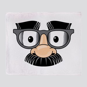 Funny Mustache Disguise Throw Blanket