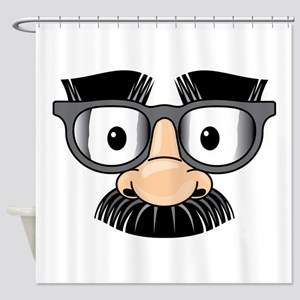 Funny Mustache Disguise Shower Curtain