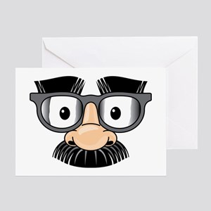 Funny Mustache Disguise Greeting Card