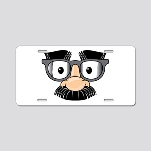 Funny Mustache Disguise Aluminum License Plate