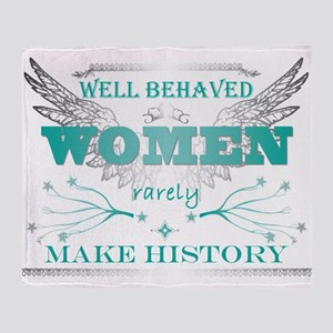 WellBehavedWomen_TURQ Throw Blanket