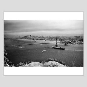 USS Nimitz - Golden Gate Bridge Small Poster