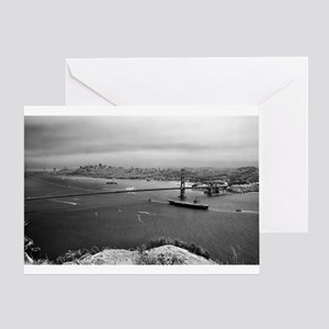USS Nimitz - Golden Gate Bridge Greeting Card