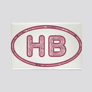 HB Pink Rectangle Magnet