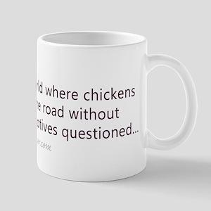 Funny chicken bumper sticker Mug