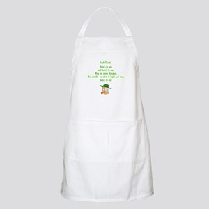 Heres to you and me Irish toast Apron