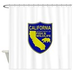 California Game Warden Shower Curtain