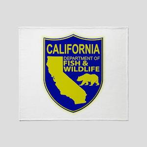 California Game Warden Throw Blanket