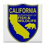 California Game Warden Tile Coaster