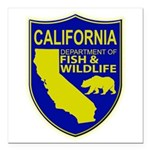California Game Warden Square Car Magnet 3