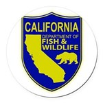 California Game Warden Round Car Magnet