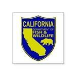 California Game Warden Square Sticker 3