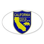California Game Warden Sticker (Oval 50 pk)