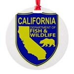 California Game Warden Round Ornament
