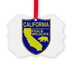 California Game Warden Picture Ornament
