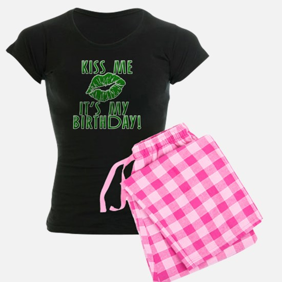 Green Kiss Me It's My Birthday Pajamas