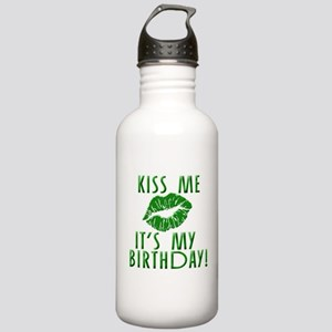 Green Kiss Me It's My Birthday Stainless Water Bot