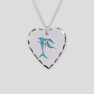 Pool Shark Necklace Heart Charm