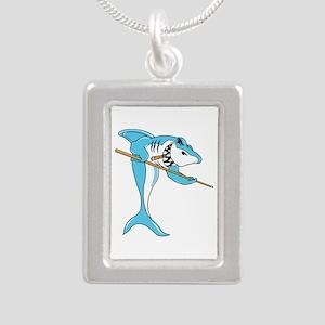 Pool Shark Silver Portrait Necklace