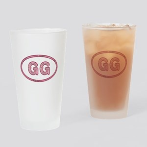 GG Pink Drinking Glass