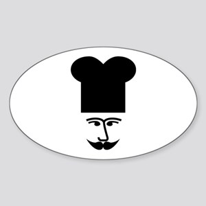 French Chef Classic Cook Sticker (Oval)